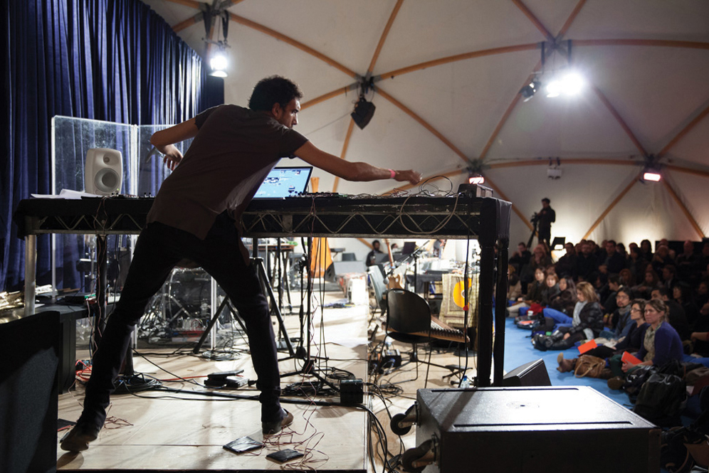 Tarek Atoui performs La Suite at the Serpentine Gallery, London Image