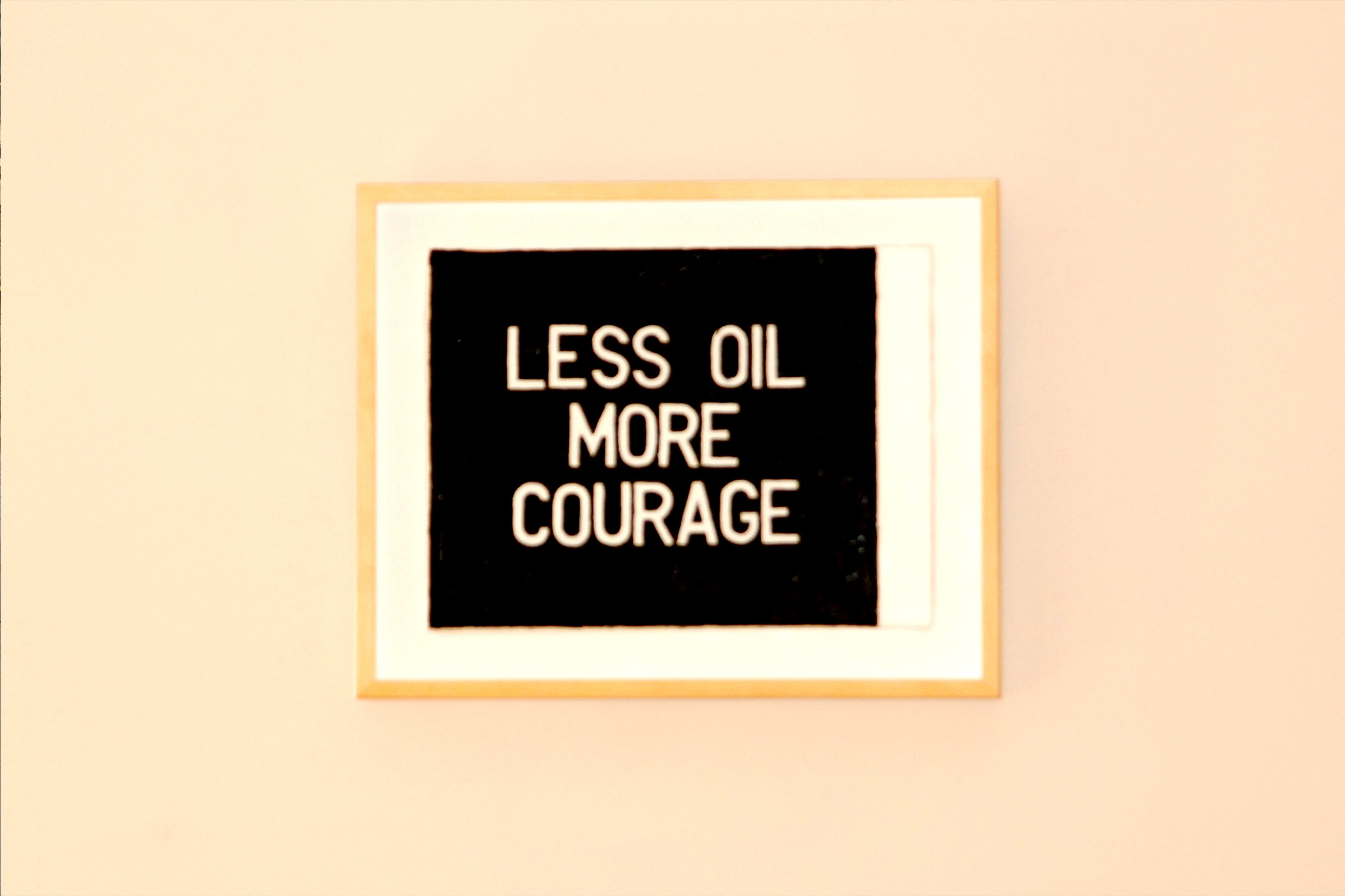 Less Oil More Courage Image