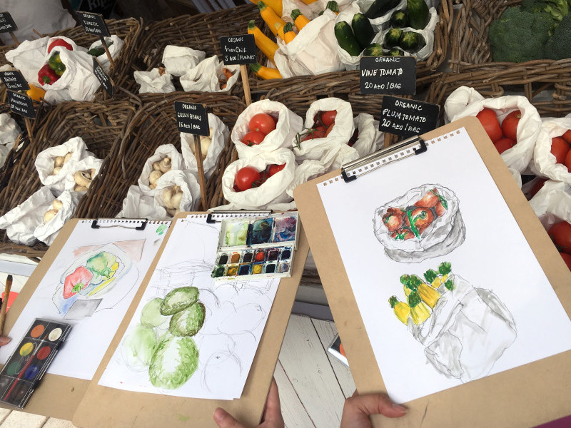 Excursion and Workshop: Botanical Sketching and Painting with Watercolours