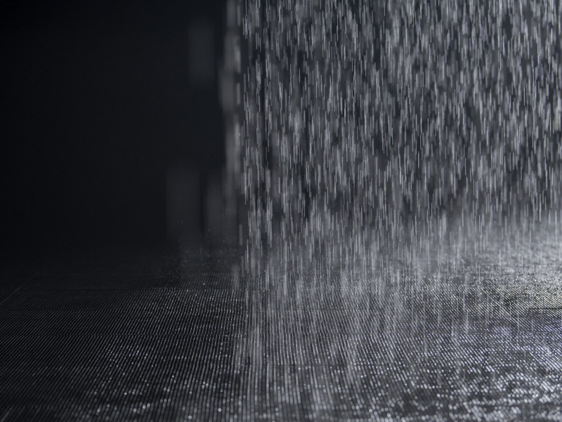 Drawing in Rain Room Sharjah