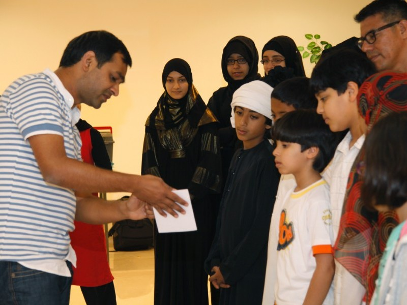 Family Art Workshop with Sharjah Biennial 10 Prize Winner Imran Qureshi