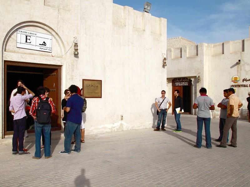 Sharjah Biennial 10 Guided Tour with Artists Tarek Al-Ghoussein and Yazan Khalili