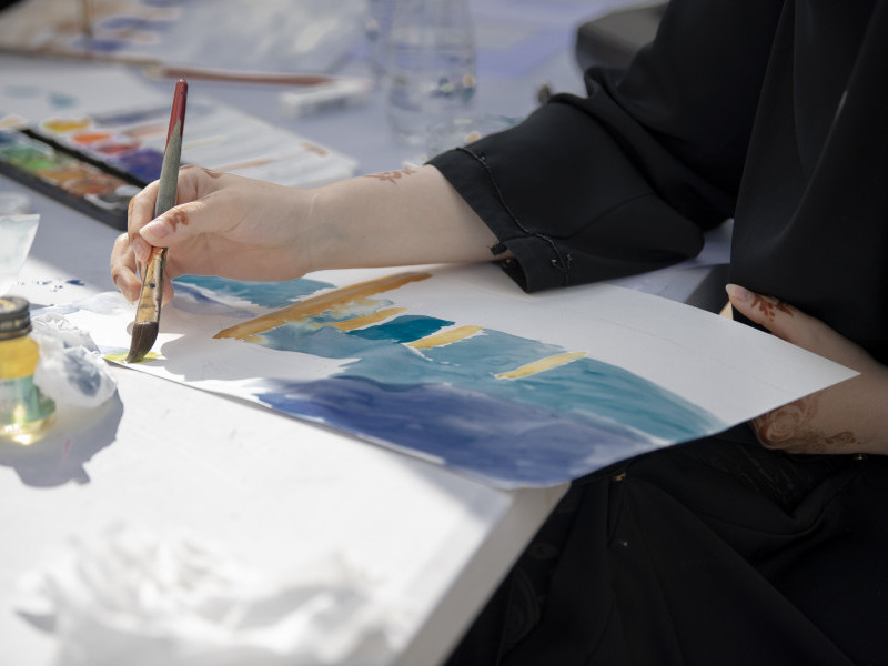 Make Your Own Watercolour Paint at the Souq