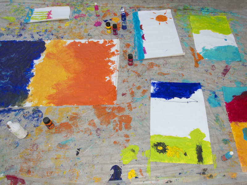 Disabilities Education Programme Offers 'Paint with Your Feet' Workshop