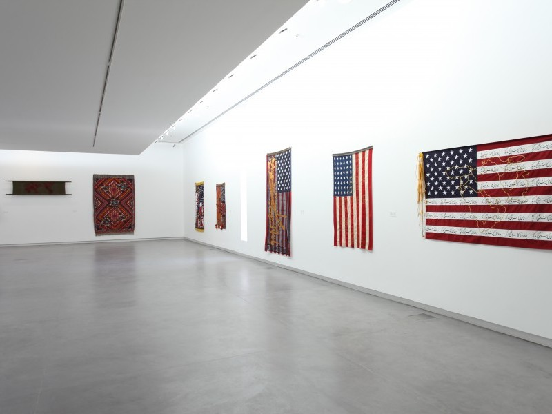 Ten works from the series 'Flag', 'War' and 'Love Letter'