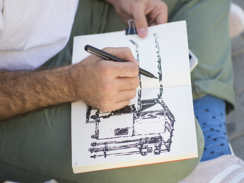 Walk and Sketch at Sharjah Biennial 14