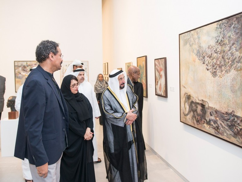 Ruler of Sharjah opens three major exhibitions of Sudanese art at the Sharjah Art Foundation